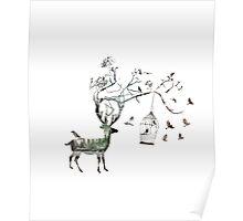 Fantasy Deer Poster