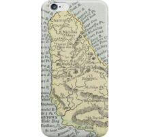 Vintage Map of Barbados (1901) iPhone Case/Skin