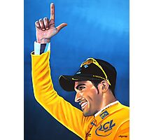 Alberto Contador painting Photographic Print