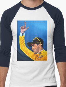 Alberto Contador painting Men's Baseball ¾ T-Shirt