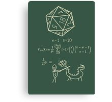 The science of 20 sided dice. Canvas Print