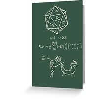 The science of 20 sided dice. Greeting Card