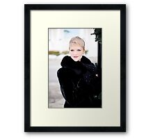 Beautiful girl with smart expression in the eyes Framed Print