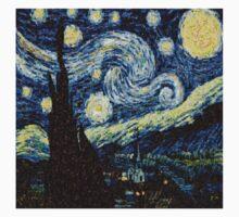 Vincent Van Gogh Starry Nights Photo Mosaic Kids Tee