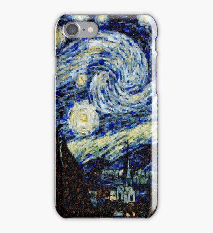 Vincent Van Gogh Starry Nights Photo Mosaic iPhone Case/Skin
