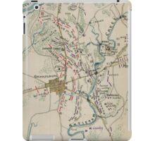 Vintage Map of Antietam Battlefield (1865)  iPad Case/Skin