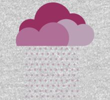 Purple clouds -  We love colorful weather! Pink rain, color drop, water, raindrop One Piece - Long Sleeve