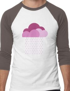 Purple clouds -  We love colorful weather! Pink rain, color drop, water, raindrop Men's Baseball ¾ T-Shirt