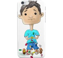 Boy Playing With Building Bricks iPhone Case/Skin