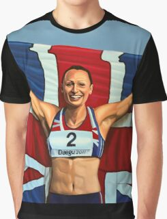 Jessica Ennis painting Graphic T-Shirt
