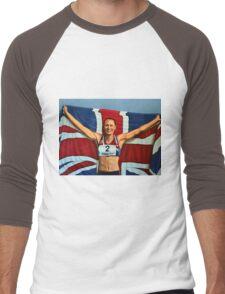 Jessica Ennis painting Men's Baseball ¾ T-Shirt