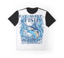 Fishing T-Shirt Eat Sleep Fish Repeat Graphic T-Shirt