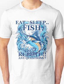 Fishing T-Shirt Eat Sleep Fish Repeat Unisex T-Shirt