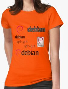 debian operating system linux sticker set Womens Fitted T-Shirt