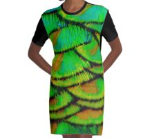 Peacock feather armour Graphic T-Shirt Dress