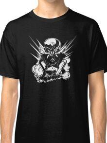 B&W metal skull with cartoon engine Classic T-Shirt