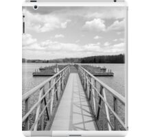 Empty Pier in BW iPad Case/Skin