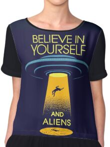 Believe in yourself... and aliens  Chiffon Top