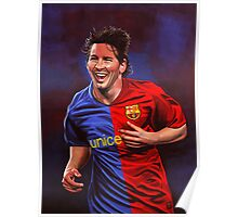 Lionel Messi painting Poster