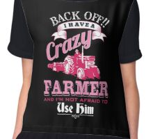 I have a crazy farmer and i am not afraid to use him shirt Chiffon Top