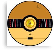 C3PO Pokemon Ball Mash-up Canvas Print
