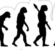 Evolution Poker player Sticker