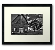 Red Barn and Tree Framed Print