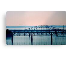 Bridge in Blue - Monochrome    ^ Canvas Print