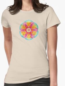 Geometric Flower Womens Fitted T-Shirt