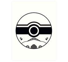 Stormtrooper Pokemon Ball Mash-up Art Print