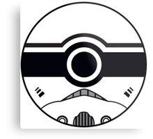 Stormtrooper Pokemon Ball Mash-up Metal Print