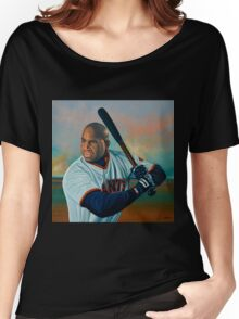 Barry Bonds painting Women's Relaxed Fit T-Shirt