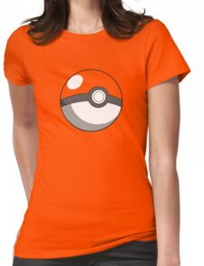 pokeball design Womens Fitted T-Shirt