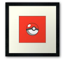 pokeball design Framed Print