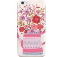 Flowers inside watering can iPhone Case/Skin