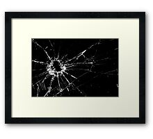 Bullet Hole in the Glass Framed Print
