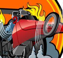 Cartoon dragster Sticker