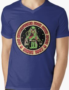 Bad Mofo from Outer Space Vintage Mens V-Neck T-Shirt