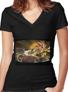 Crono Cool Women's Fitted V-Neck T-Shirt