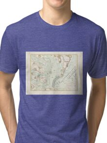 Vintage Map of The Battle of Yorktown (1781) Tri-blend T-Shirt