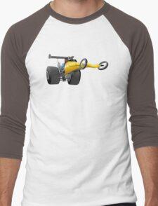 Cartoon dragster Men's Baseball ¾ T-Shirt