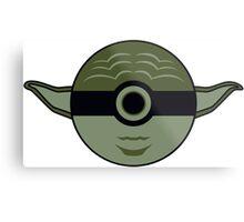 Yoda Pokemon Ball Mash-up Metal Print