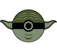 Yoda Pokemon Ball Mash-up Photographic Print