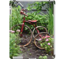 Antique Bike in a Garden iPad Case/Skin