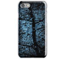 black tree on blue light iPhone Case/Skin