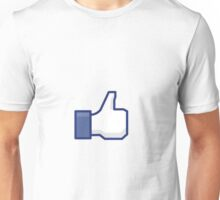 Facebook Like Button Unisex T-Shirt