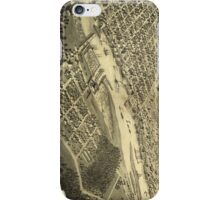 Vintage Map of Bay City Michigan (1867) iPhone Case/Skin