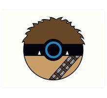 Chewbacca Pokemon Ball Mash-up Art Print