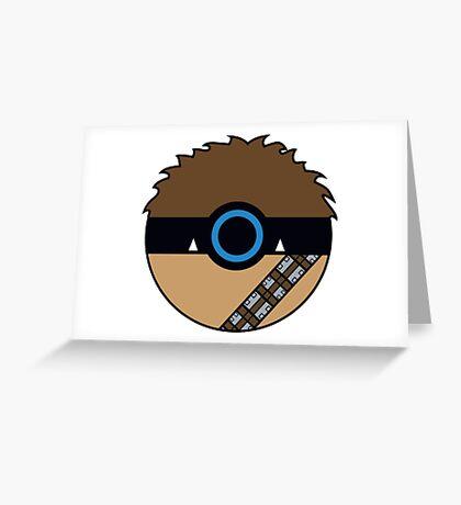 Chewbacca Pokemon Ball Mash-up Greeting Card
