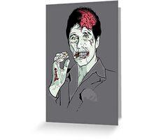 Zombie Al Pacino Scarface Greeting Card
